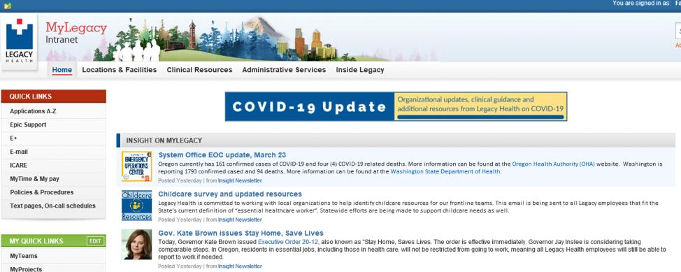 Covid-19 Legacy Health Target